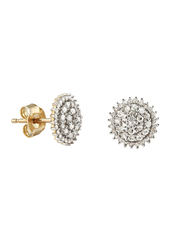 Firetti oorbellen: oorstekers 'Bloem' Ø ca. 9 mm met diamanten goedkoop op otto.nl kopen