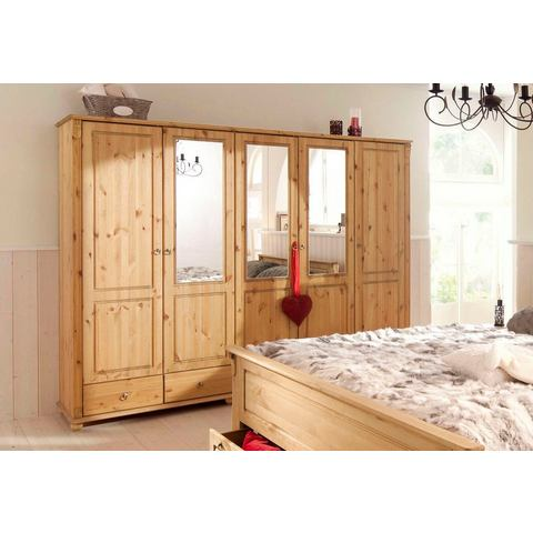 Kledingkasten Massief grenen garderobekast 2-5 deurs 406239