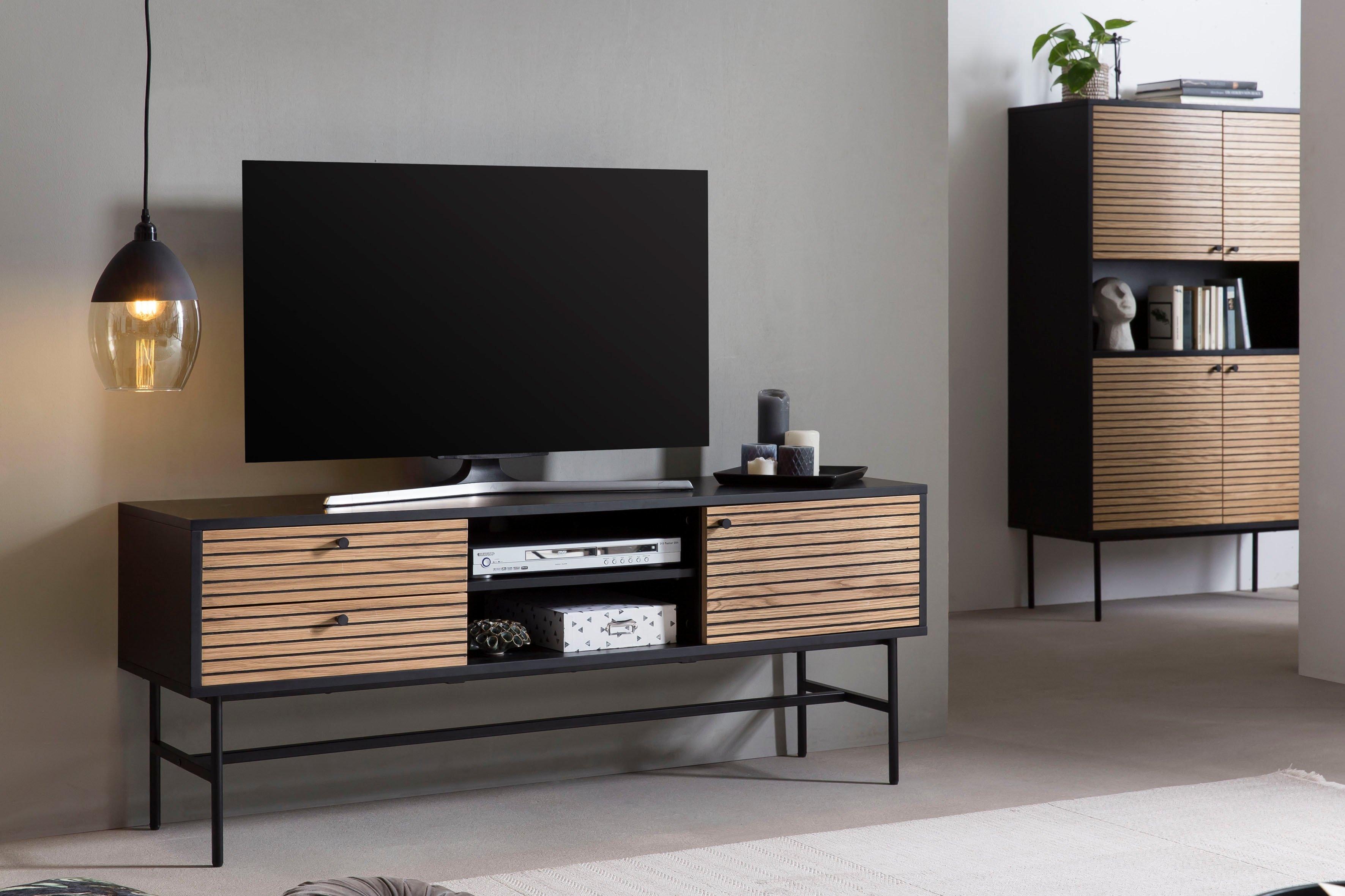 SalesFever tv-meubel Tv-tafel met 2 kabeldoorvoeren nu online kopen bij OTTO
