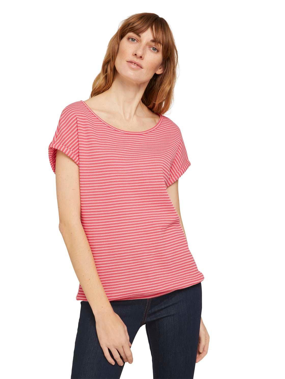 Tom Tailor T-shirt met modieuze motief-structuur nu online bestellen