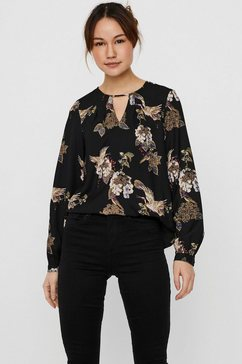 vero moda shirtblouse vmcrane met cut-out zwart