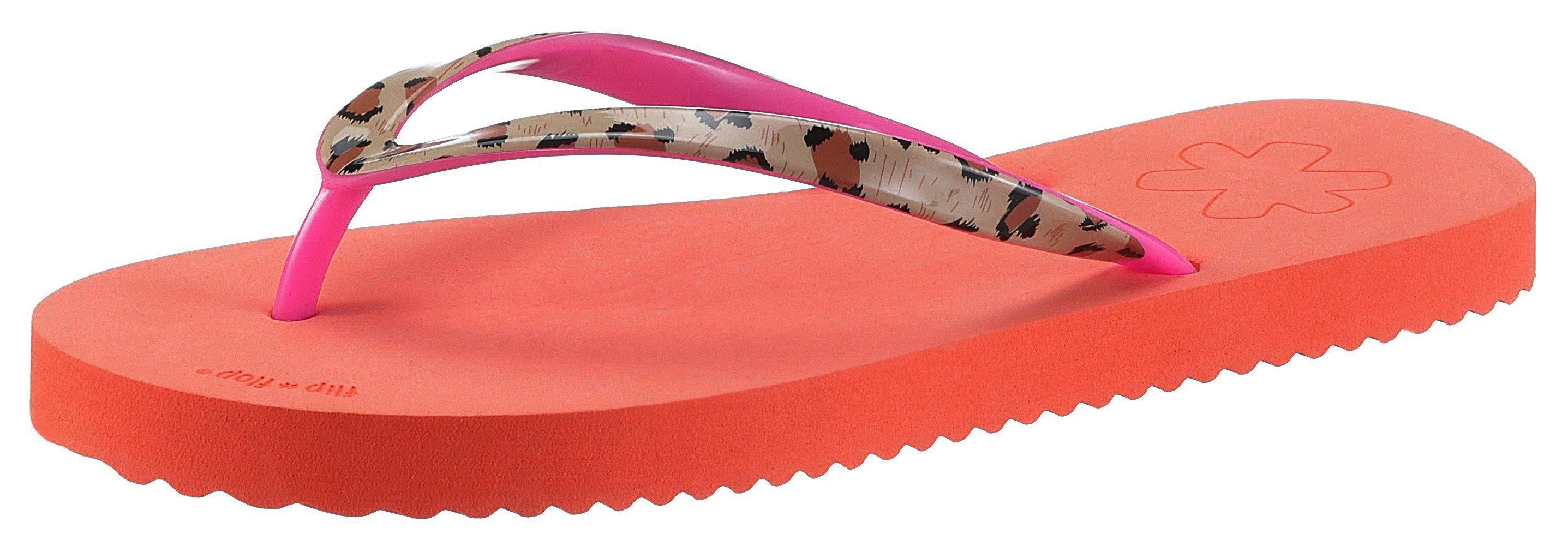 Flip Flop badslippers Easy Animal met mooie luipaardprint - gratis ruilen op otto.nl