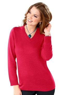 classic basics trui met v-hals rood