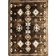 resital the voice of carpet vloerkleed side 265 korte pool, geweven, orint-look, woonkamer bruin