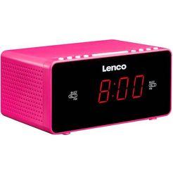 lenco wekkerradio cr-510 roze