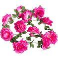 botanic-haus kunstbloem rosengirlande (1 stuk) roze