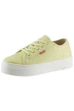 levi's plateausneakers trjuana in prettige schoenwijdte groen