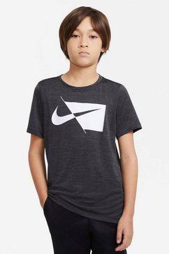 nike t-shirt »nike core (3) big kids' (boys') short-sleeve top« zwart