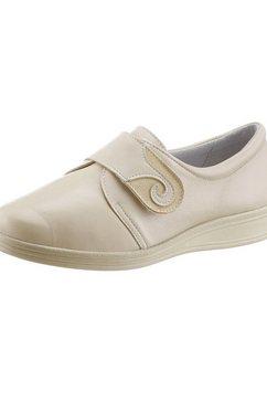 klittenbandschoenen met uitneembaar, leren voetbed beige