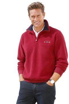 catamaran fleece-trui met schipperskraag rood