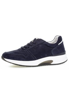 gabor rollingsoft sneakers met rubberzool blauw