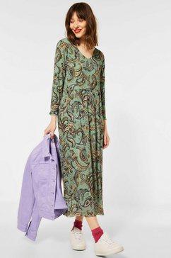 street one maxi-jurk met paisleymotief groen