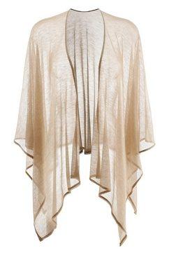 purset sjaal folkloreponcho met lurex beige