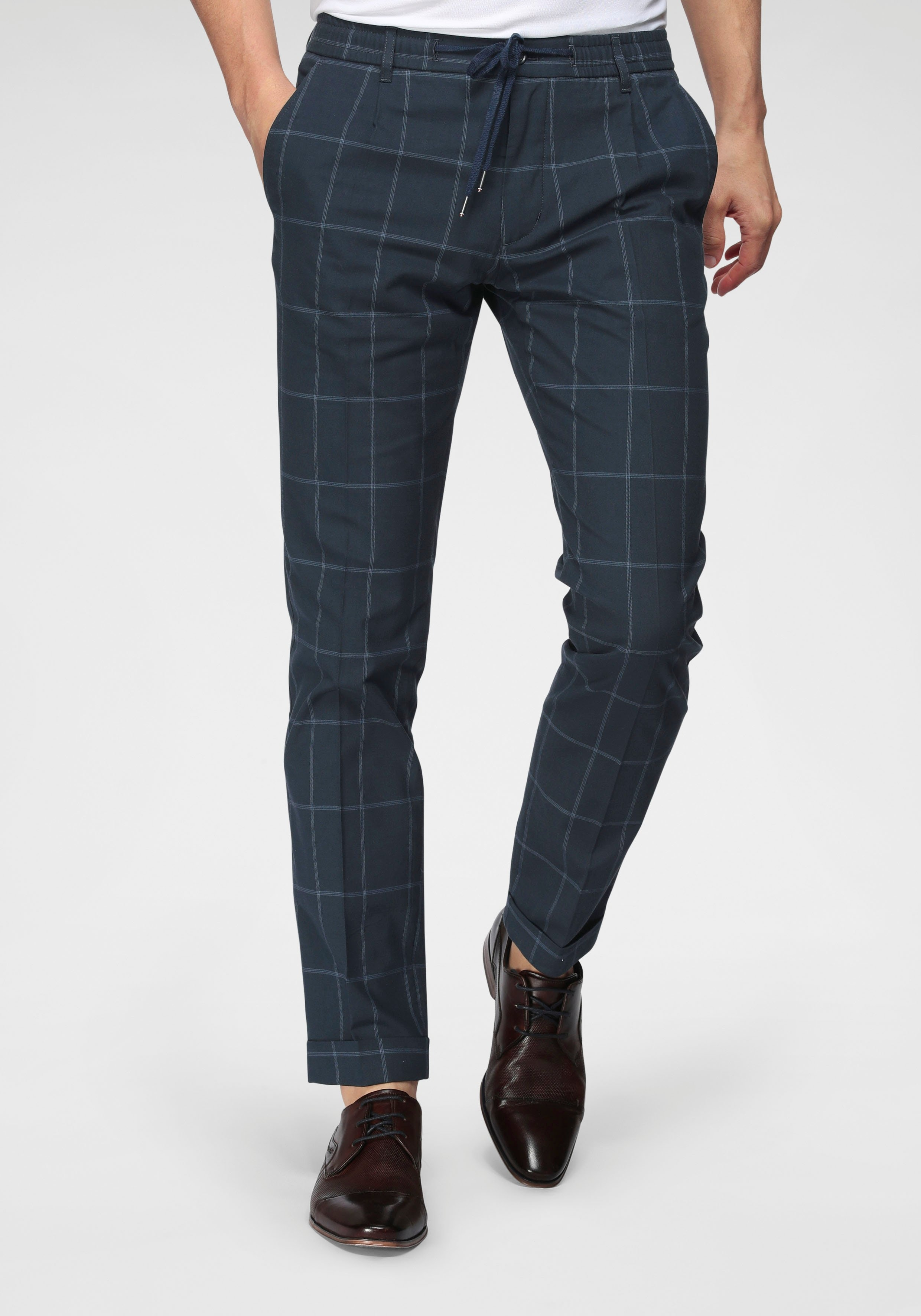 Tommy Hilfiger pantalon Tailored , extra met rijgkoord nu online kopen bij OTTO