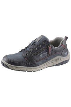 mustang shoes veterschoenen met stijlvolle contrastdetails blauw