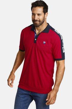 jan vanderstorm poloshirt orlov comfortmodel met boord rood