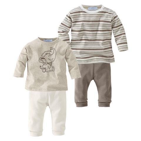 Babyworld 2 shirts met lange mouwen + 2 broeken, 4-delige set