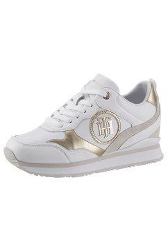 tommy hilfiger sneakers metallic dressy wedge sneaker met th-logo wit