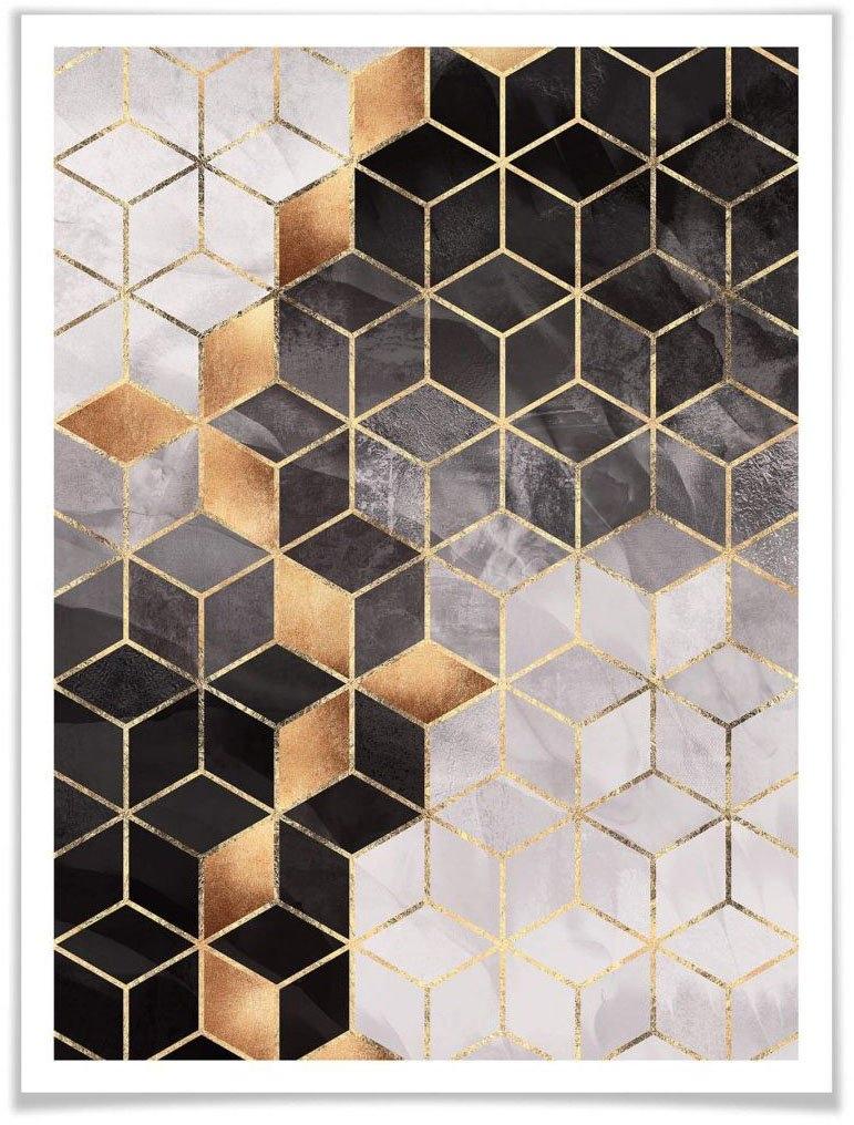 Wall-Art poster Smoky Cubes (1 stuk) bestellen: 30 dagen bedenktijd