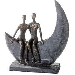 casablanca by gilde decoratief figuur sculptuur moon decoratief object, hoogte 24 cm, paartje, met teksthanger, woonkamer (1 stuk) geel