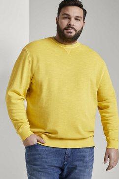 tom tailor men plus sweater »schlichtes sweatshirt« geel