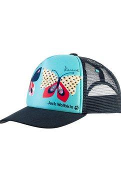 jack wolfskin baseballcap animal mesh cap kids blauw