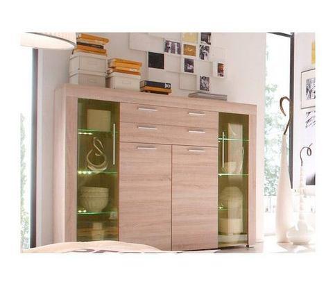 Dressoirs Highboard met 4 deuren en 2 laden 739089