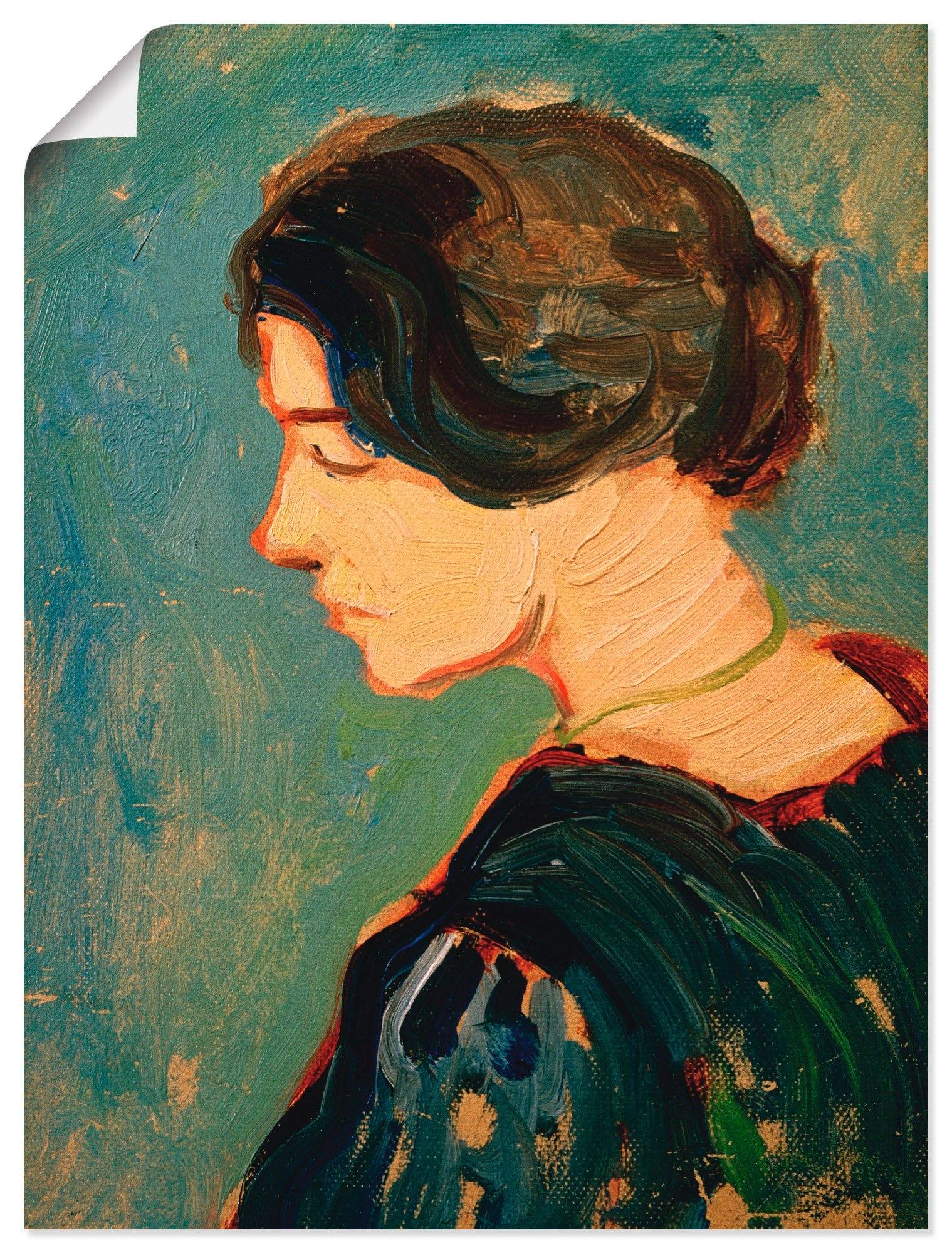 Artland artprint Elisabeth Macke, studiehoofd in vele afmetingen & productsoorten -artprint op linnen, poster, muursticker / wandfolie ook geschikt voor de badkamer (1 stuk) - verschillende betaalmethodes