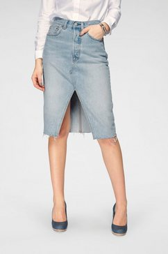 levi's jeansrok »deconstructed midi skirt« blauw
