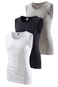 h.i.s fijnrib-muscle-shirt (set van 3) sportief model zonder zijnaden, optimale pasvorm grijs