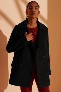 superdry caban »wool pea coat« zwart