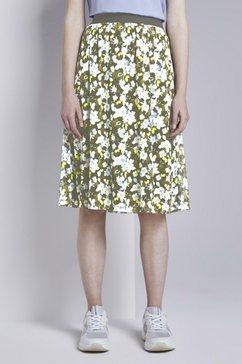 tom tailor zomerrok mesh rok met bloemmotief groen