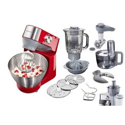 kenwood keukenmachine prospero km241, red edition wit