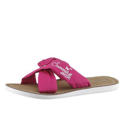 NU 15% KORTING: CITY WALK Slippers van textiel