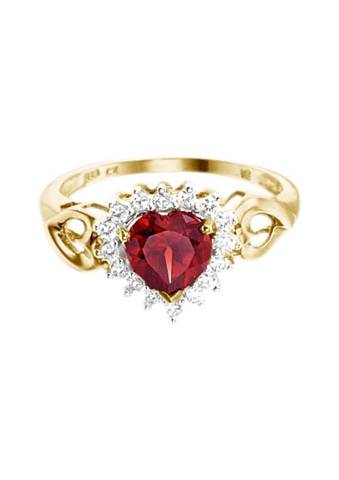 Firetti ring Hart met granaatsteen en zirkoon nu online kopen bij OTTO