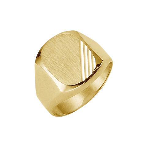 Ring-zegelring in verloop met diamantslijpsel
