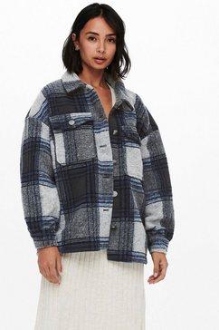 only overhemdjasje onlandrea shacket in ruit-look blauw