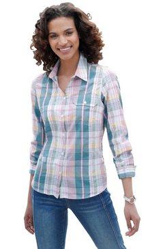 blouse met casual ruitdessin blauw