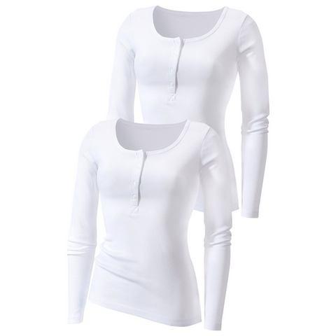 Shirt met lange mouwen, H.I.S, set van 2