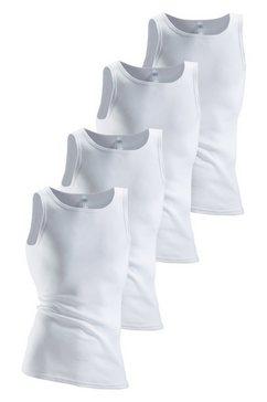 clipper onderhemd (set van 4) in fijn- en dubbelrib wit