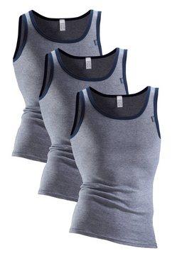 clipper exclusive, hemd (set van 3), modieuze look, jeans mêlee, prima katoenkwaliteit blauw