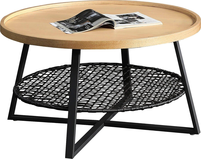 SalesFever salontafel Legplank onder het tafelblad van metalen frame en polyrotan voordelig en veilig online kopen