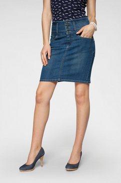 arizona jeansrok met extra brede band high waist blauw