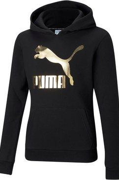 puma hoodie classics logo hoodie girls zwart