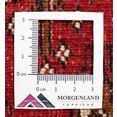 morgenland wollen kleed turkaman teppich handgeknuepft rot rood
