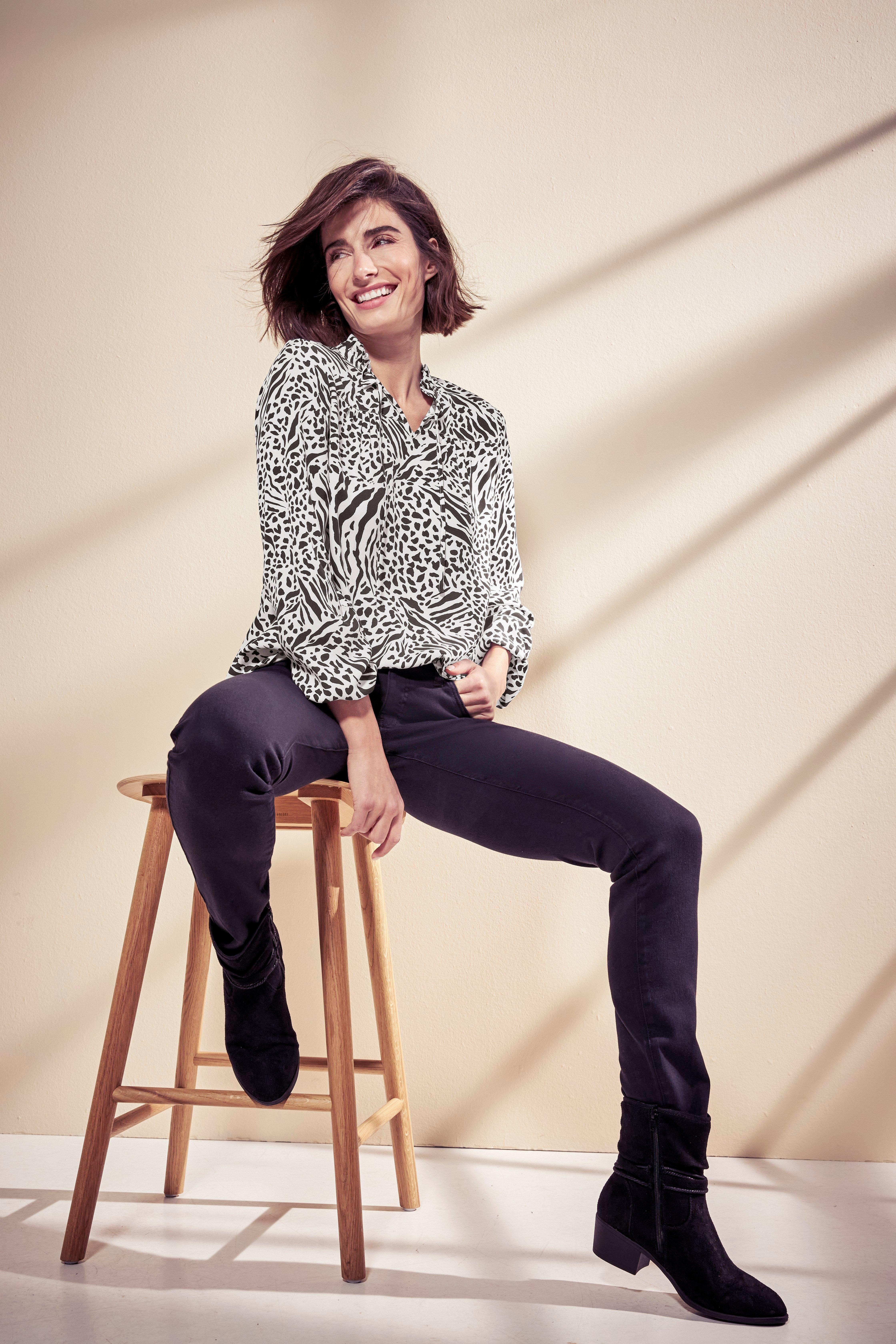 OTTO products blouse zonder sluiting duurzaam van zachte lenzing™ ecovero™-viscose nu online kopen bij OTTO