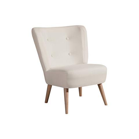MAX WINZER® fauteuil in retro-stijl Neele, met houten poten