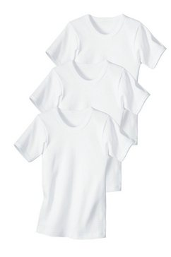 uniseks-shirt, korte mouwen wit