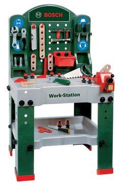 werkbank voor kinderen inclusief accessoires, klein theo, 'bosch'-workstation, 43-delig multicolor