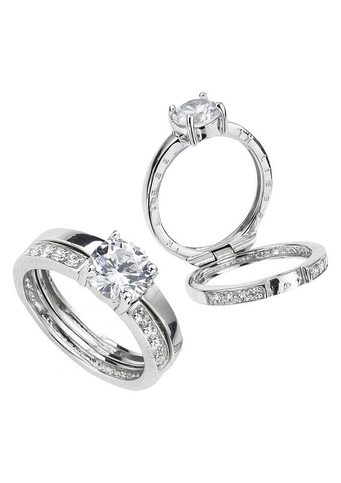 Firetti zilveren ring Opschrift binnenin: in liefde met zirkoon goedkoop op otto.nl kopen
